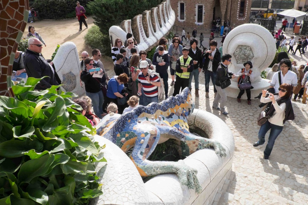 The Salamander, The star of Gaudi's Guell Park Barcelona